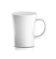 white mug 3d realistic ceramic coffee tea vector image