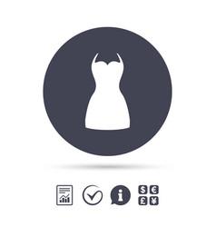 Woman dress sign icon elegant clothes symbol vector