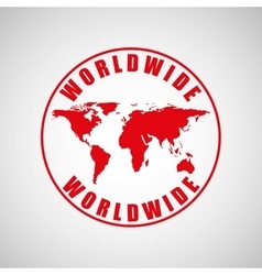 world wide design vector image