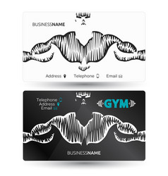 business card for gym and fitness vector image vector image