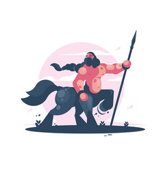 character centaur with spear vector image vector image