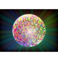 Disco ball Black background vector image vector image