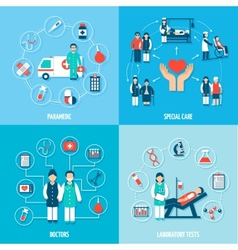 Medical Personnel Set vector image vector image