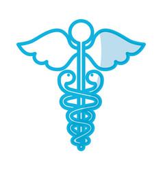 shadow medical symbol vector image