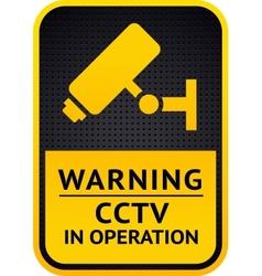 Video surveillance sticker 10eps vector image