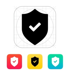 Accept shield icon vector image vector image