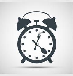 icon alarm clock vector image vector image