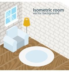 Isometric room background vector image