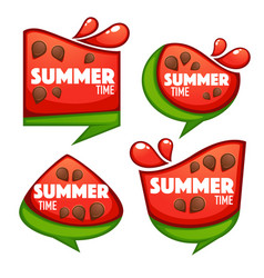 Summer time collection of sweet and shine vector