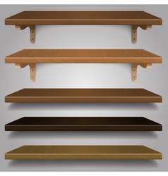 - Wood Shelves vector image vector image