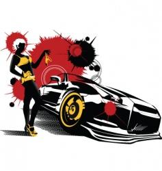 car girl vector image