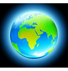 glossy earth map globe vector image