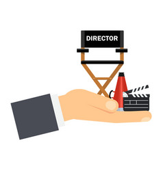 hand with director seat vector image vector image