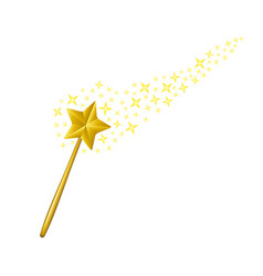 magic wand with stars vector image vector image