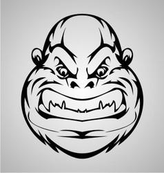 Monkey Face Tribal vector image
