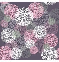 Abstract seamless polka dot circles pattern vector image