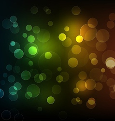 Abstract shiny lines with bokeh background vector image
