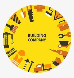 Building company emblem vector image vector image