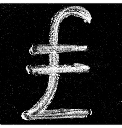 Chalk turkish lira vector image