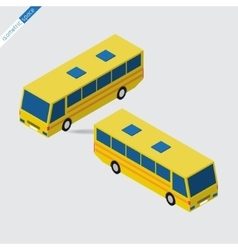 isometric space - yellow bus vector image vector image