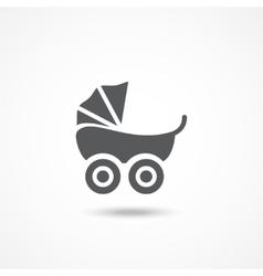 Pram icon vector