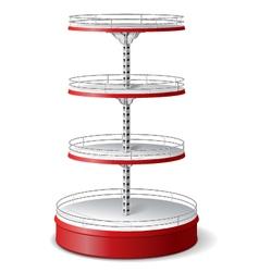 Round Supermarket Shelf vector image