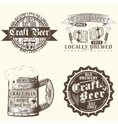 set of brewery emblems vector image vector image