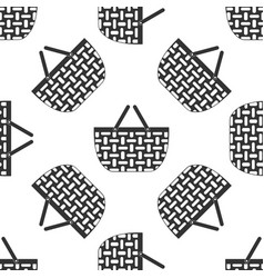 shopping basket icon seamless pattern on white vector image vector image