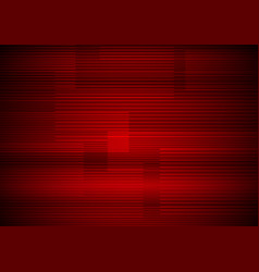 Abstract horizontal line pattern on red vector