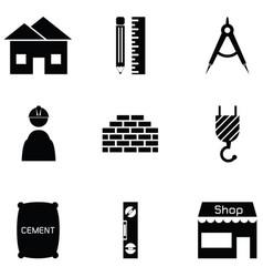architecture icon set vector image