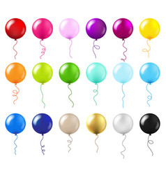 Balloons big set vector