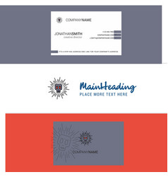 beautiful skull logo and business card vertical vector image
