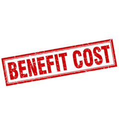benefit cost square stamp vector image