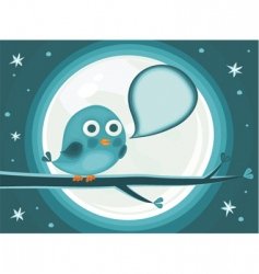 bird cartoon vector image