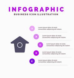 Birdhouse tweet twitter solid icon infographics 5 vector