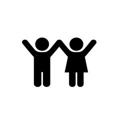 Boy and girl icon icon in flat style child symbol vector