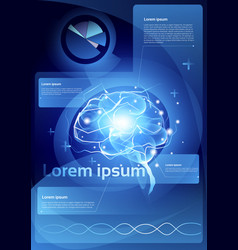 brain neurons activity medicine thinking vector image