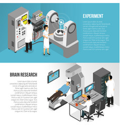 Brain research banners set vector