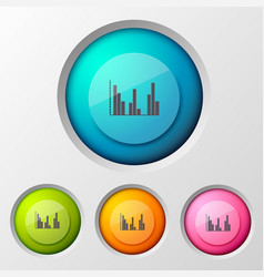 business diagram buttons background vector image