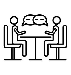 Business negotiation icon outline style vector
