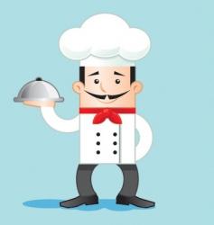 Cartoon of chef vector