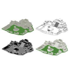 castle in tulum perspective view vector image