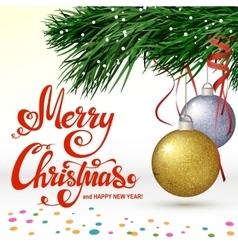 Christmas balls on white background vector image