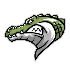 Crocodile head side vector