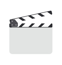 Director clapboard or movie clapboard vector