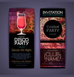 Disco cocktail identity templates disco background vector