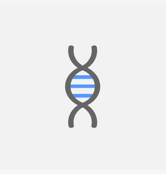dna flat icon isolated on white background vector image