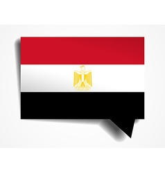 Egypt - paper 3d realistic speech bubble vector