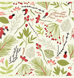 elegant seamless pattern with branches of vector image