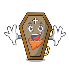 Elf coffin character cartoon style vector